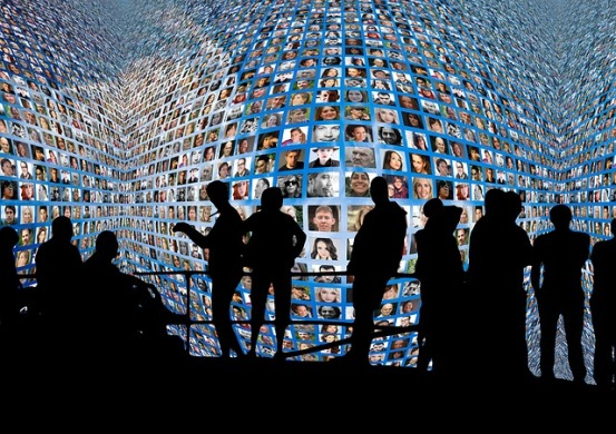 Video Wall with Human Silouhettes
